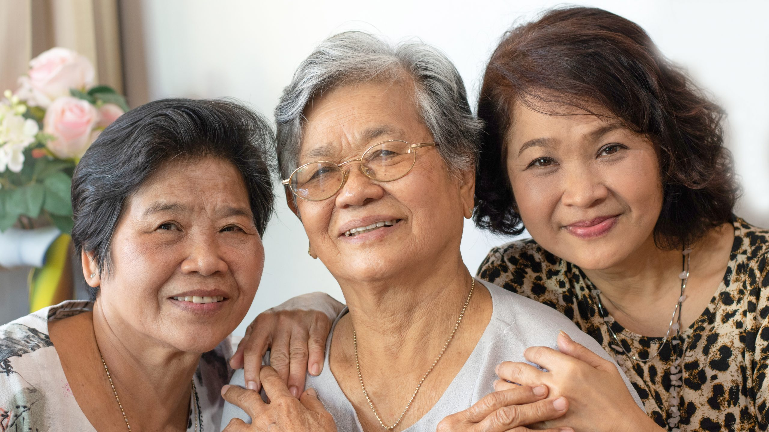 Three inter-generational Asian women